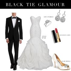 Complete your black tie #wedding look with this gorgeous Justin Alexander Signature gown.