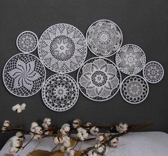 Large White Wedding Backdrop Luxury Crochet Dream Catcher Wall