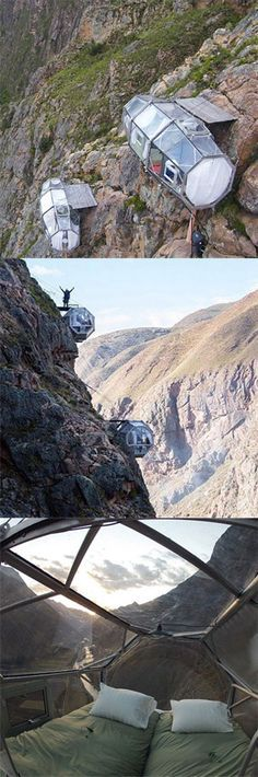 The Natura Vive Skylodge Adventure Suites' hanging pods allow you to sleep on the top of a mountain in Cuzco, Peru. Peru Travel, Travel And Leisure, Machu Picchu, Places To Travel, Places To See, Peru Ecuador, Holiday Places, Travel Humor, South America Travel