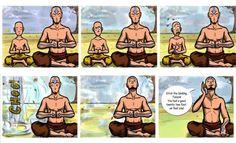 father/son meditating <3