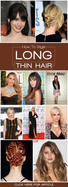 Here are 10 such hairstyles for thin long hair ---> http://tipsalud.com
