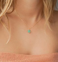 Evil eye necklace, Aquamarine evil eye protection charm, 14kt gold filled satellite dainty necklace, Vanessa Hudgens necklace on Etsy, $27.00
