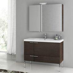 ACF by Nameeks ACF ANS15-W New Space 39-in. Single Bathroom Vanity Set - Wenge - ACF ANS15-W-