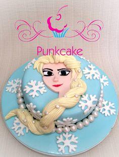 Bolo Artístico, Elsa Frozen Punkcake (confeitaria) G.Alline