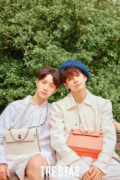 Wanna One Lai Guanlin Ong Seongwoo The Star Photoshoot Dan Lin, Jaehwan Wanna One, Nothing Without You, No Min Woo, Woo Young, Lai Guanlin, Ong Seongwoo, Fans Cafe, Ha Sungwoon