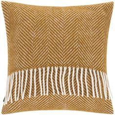 A by Amara Calanques Wool Pillow - 40x40cm - Mustard ($40) ❤ liked on Polyvore featuring home, home decor, throw pillows, yellow, yellow home decor, chevron throw pillows, wool throw pillows, yellow toss pillows and mustard yellow throw pillows