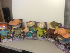 Lot of 6 Nickelodeon Rugrats Movie Plush Mattel 1998 Tommy Angelica DIL Doll New | eBay