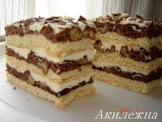 Акилежна: пляцок Вишиванка Russian Desserts, Russian Recipes, Hungarian Cake, Traditional Cakes, My Dessert, Homemade Cakes, International Recipes, Creative Food, No Bake Desserts