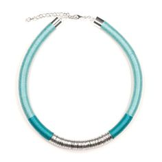KASAI Necklace | Seafoam and Silver