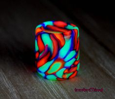 FREE Shipping Psychedelic UV Dread Bead Blacklight Reactive