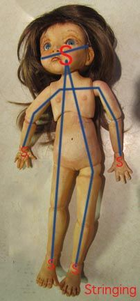"Stringing dolls This is how I strung my first doll. Marina Bychkova- (Her last doll sold on ebay went for $7,799.00 US.""The articulation of my resin Enchanted Dolls is the same as my porcelai…"