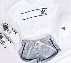 adidas, black and white, fashion, girl,
