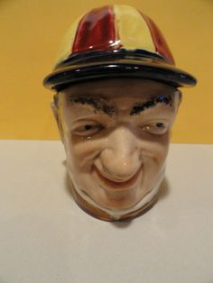 Antique Majolica Jockey Tobacco Jar Humidor | eBay
