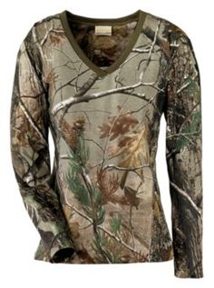 SHE® Outdoor Apparel V-Neck Jersey Tee Shirt for Ladies - Long Sleeve   Bass Pro Shops $19.99