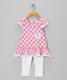 Nannette Pink Plaid Tunic & Leggings - Toddler & Girls | Daily deals for moms, babies and kids