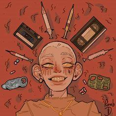 Kunst Inspo, Art Inspo, Cartoon Kunst, Cartoon Art, Art And Illustration, Medical Illustration, Art Illustrations, Arte Dope, Arte Punk