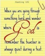 The teacher is always quiet during a test.