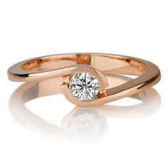 Diamant Ring Solitär 0.25 Karat (VS2/F) in 750er Rosegold