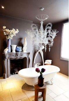 Love this! Doesn't even look like a typical bathroom