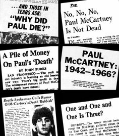 1000 images about paul mccartney conspiracy died 1966 on pinterest paul is dead. Black Bedroom Furniture Sets. Home Design Ideas