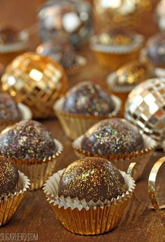 Disco Truffles –These super fun chocolaty treats will definitely light up your New Year's party!