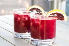 Blood orange margarita mmm  2 oz. blanco tequila  1 oz. triple sec  1 oz. fresh lime juice  1 oz. blood orange juice