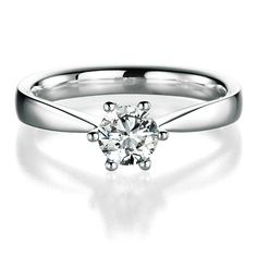 Diamantringe  Diamantring Modell 057c - Top Wesselton VS - 0.50 Ct - Diamantring ...