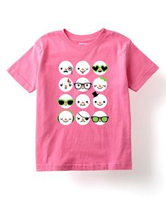 Look what I found on #zulily! Raspberry Snowman Faces Tee - Toddler & Girls #zulilyfinds
