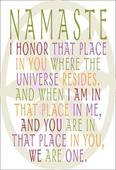 Namaste – Namaskara – Greeting In India – Yoga Mantra, Chakras, Namaste Symbol, Namaste Yoga, Zen Yoga, Cool Words, Wise Words, Gratitude, Sign Quotes
