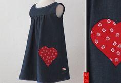 """Festkleid / Trägerkleid """"Juli"""" - Jeans von  katharina-meintke-kids - Lieblingssachen für Kinder auf DaWanda.com"""