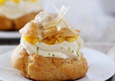Choux au chocolat blanc citron vert, ananas et mangue | Croquons La Vie - Nestlé
