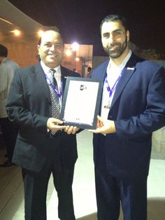 Midamar Gyros and Apple Hickory Smoked Beef Strips were chosen as innovation award finalists at SIAL Abu Dhabi. Products will be showcased at SIAL Exhibitions worldwide in 2013. Alaa Kamal, Middle East Sales Director and Jalel Aossy (right) accept awards.