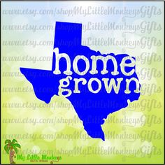 Home Grown Texas Design Digital Clipart Instant Download Full Color 300 dpi Jpeg, Png, SVG EPS DXF Format - pinned by pin4etsy.com