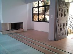 Διακόσμηση Τζακιού:Πέτρα Ινδίας.Τοποθέτηση Δαπέδου Laminate.(Ανακαίνιση Σπιτιού) Decor, Furniture, Room, Home, Room Divider