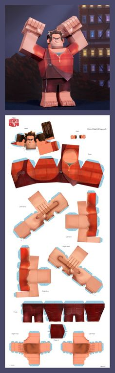 Wreck-It Ralph 3D Papercraft
