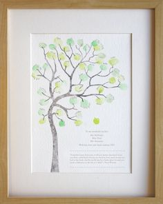 Fingerprint tree teachers gift classroom by MiniInkFingerPrints, $25.00