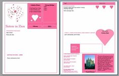 downloadable relief society newsletter template - she has a lot of different months covered.  Cute!