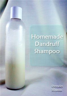 How to Make Dandruff Shampoo: 1/4c coconut milk, 1/3 liquid castile soap and 1-2tsp coconut oil.