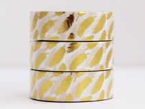 Washi Tape Foil Tape goldene Federn