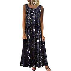 Nmch/_Women Clothes Women Summer Dress Spaghetti Strap Ruffled Hem Boho Dress Casual Sleeveless Cami Dress Nmch