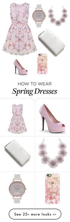 """spring "" by wildestdreamtay on Polyvore featuring Olivia Burton, Joan Rivers, Kate Spade and Casetify"