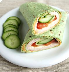 This Turkey Hummus Spinach Wrap is the perfect lunch!!!!