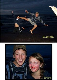 Cute couple picture fail..I laughed way too hard on this lol |   See More about couple pictures, kung fu and pictures.