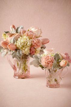 BHLDN Vintage Pink Glassware Parlour Pitcher $30.00 STYLE: 33064338