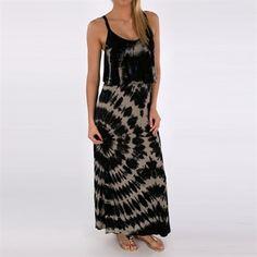 Santiki Sonora Tie-Dye Maxi Dress #VonMaur #Black #Grey #TieDye