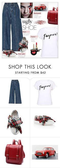 """""""Ugly (But Chic?!) Shoes"""" by alves-nogueira ❤ liked on Polyvore featuring Saloni, Joshua's, Rick Owens, Lancôme, polyvoreeditorial, uglyshoes, JoshuaSanders and buyshoes"""