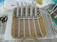 woven pottery basket from Deci Ruiz, Hampton N.J.