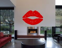 Lips Vinyl Wall Stickers, Lips Decals. Lips Wall Art in Home, Furniture & DIY, Home Decor, Wall Decals & Stickers | eBay