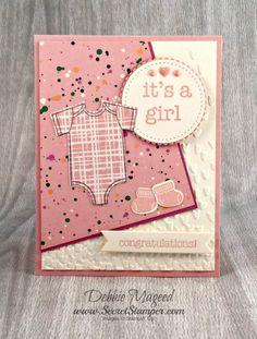 Stamp Sets: Made with Love, Something for Baby, Baby Prints Paper: Playful Palette DSP Stack, Blushing Bride, Sweet Sugarplum, Very Vanilla Ink: Blushing Bride, Memento Black