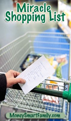 This Miracle Shopping List will save you time, money and mental energy. It can be customized to have all of your favorite foods on it. Just print it out, check off what you need and head to the store. What could be easier?